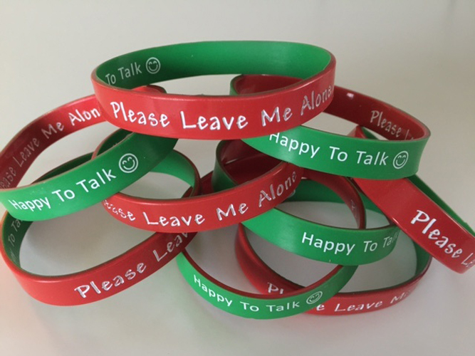 Happy to Talk - Please leave me alone wrist band