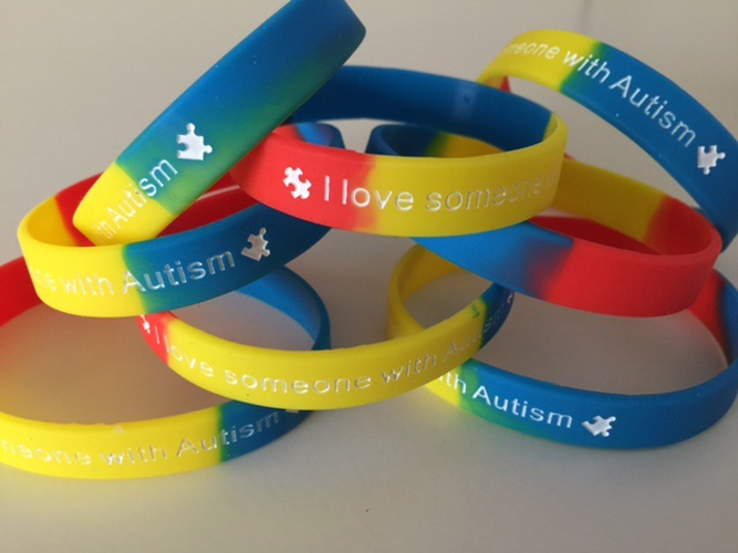 I love someone with autism - wrist band