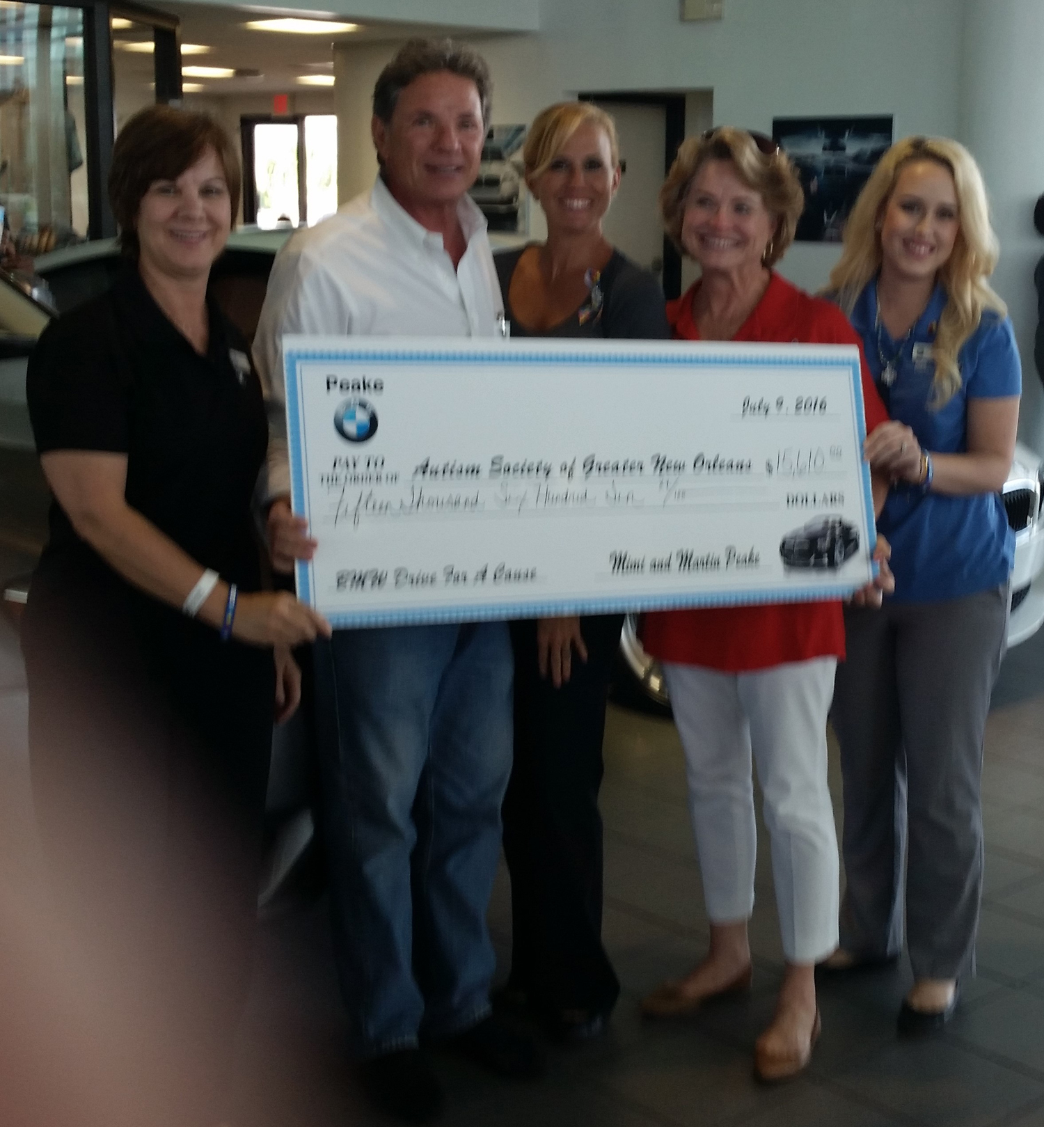 7-9-16 Peake BMW Donation
